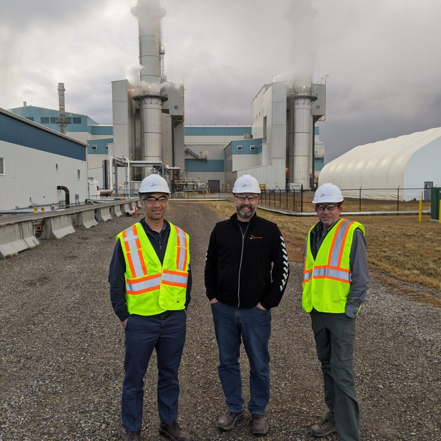350Solutions Team on site in Wyoming during the 3rd round of the NRG COSIA Carbon XPRIZE. Fall 2020.